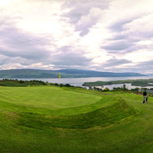 Loch Stuart from the 9-hole Tobermory Golf Club at the top of the island.