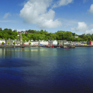 Tobermory Harbor, Isles of Mull. As many buildings along Tobermory's harbor are painted with bright colors, they make an excellent background for photos. Legend has it that a Spanish galleon laden with gold was sunk in the harbor.
