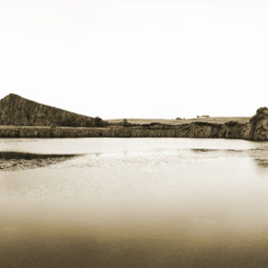 Hadrian's Wall Quarry pool, England. The quarry stands to the side of Military Way, a Roman road from the 2nd century.