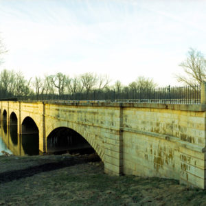 C&O Canal Aqueduct at Monocacy River. This structure carried the water of the C&O Canal during the Civil War. Confederate troops repeatedly tried to blow it up to prevent the passage of goods needed for the war effort.
