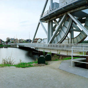 Caen Canal, Pegasus Bridge, France. The bridge was one of the first objectives for the invading forces to capture in the early morning hours of D-Day. Controlling this bridge prevented Nazi armor from moving to counter-attack the landings.