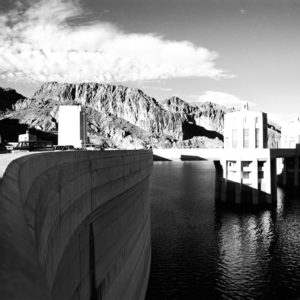 Collection Basin at Hoover Dam. The water in this basin comes from snow melt in the Rockies and provides hydro-electric power to 40 million homes,