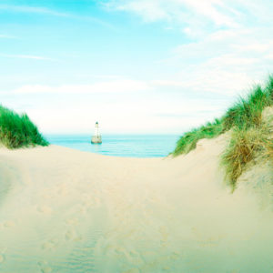 English Channel, Rattray Light. The dunes can be 22m high and the beach stretches for almost 30 km.