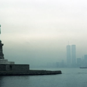 1977 : New York Harbor. This was shot from a boat when I asked the captain to turn so I  could frame the shot.