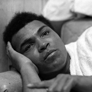 1973 : Muhammad Ali at  Deer Lake. Ali was taking it easy after a mock bout in the ring. This was shot while nobody else was looking.