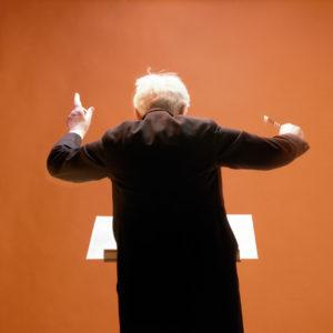1981 : Orchestra Conductor in rehearsal, Copenhagen