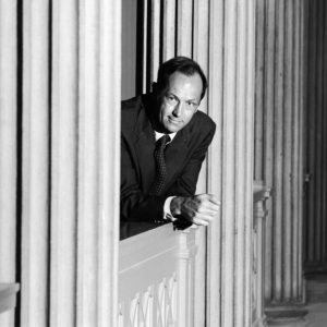 1993 : Sen Bill Bradley for President photographed at the Corcoran Gallery of Art for his campaign.