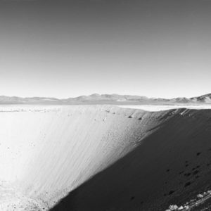 1998 : Sedan Crater, Nevada. The crater is the result of a nuclear test for and it can be seen from space.